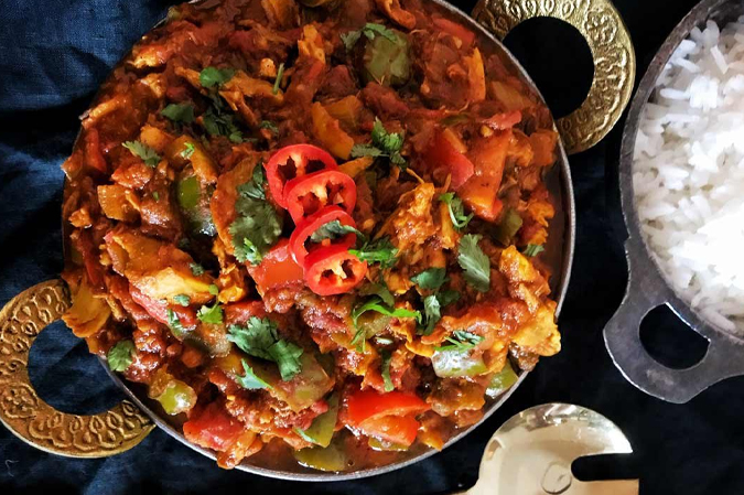 Chicken Jalfrezi Butt Karahi